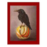 Crow On A Marble Postcard