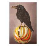 Crow On A Marble Stationery