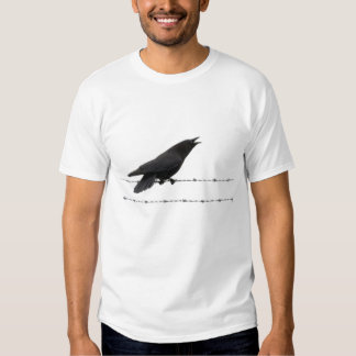 Crow on Barbed Wire T-shirt