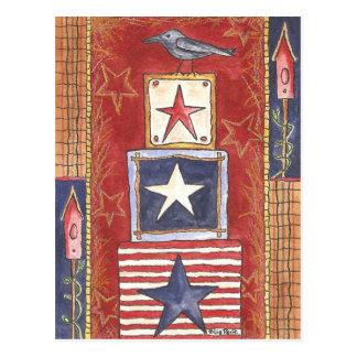 Crow on Stars Postcard