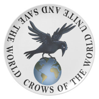 Crow on top of the World - Plate