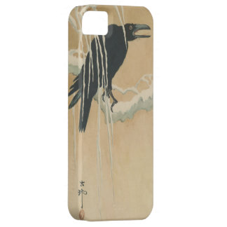 Crow on Willow Branch pre-1900s iPhone 5 Case