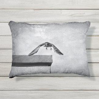 crow outdoor pillow