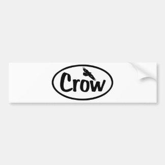 Crow Oval Bumper Sticker