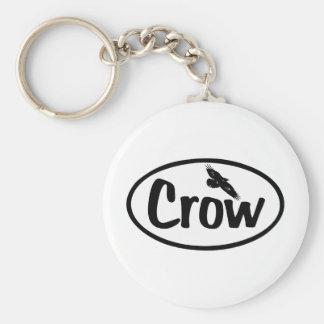 Crow Oval Keychain