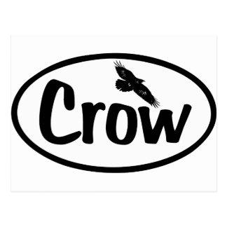 Crow Oval Postcard