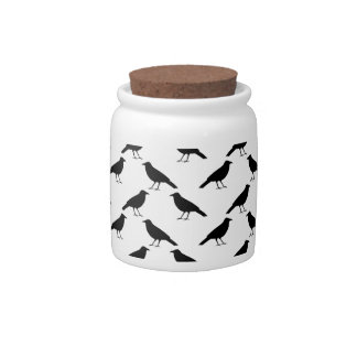 Crow Pattern. Candy Jars