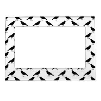 Crow Pattern. Magnetic Photo Frame