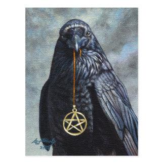 Crow Pentacle Post Card