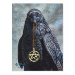 Crow Pentacle Postcard