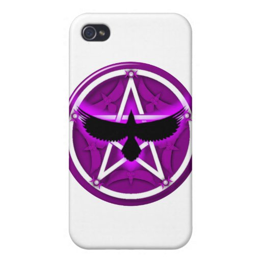Crow Pentacle - Purple Cover For iPhone 4
