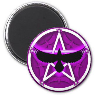 Crow Pentacle - Purple Magnet