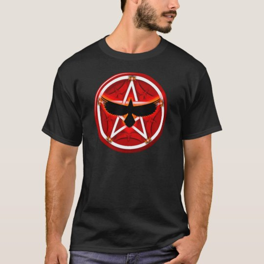 Crow Pentacle - Red T-Shirt