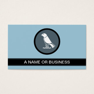 crow powder blue bubble business card
