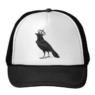 CROW Raven Crown Black Bird Birds Trucker Hat