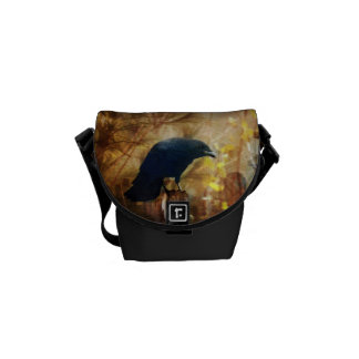 Crow/Raven Photo Messenger Bag