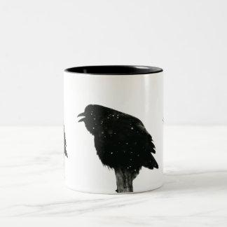 Crow/Raven Photo Two-Tone Coffee Mug