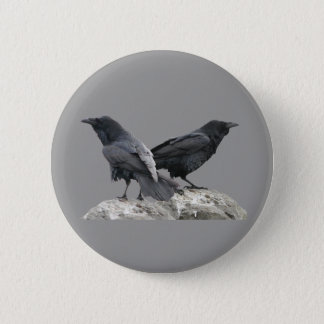 Crow Raven Pinback Button