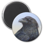 Crow Raven Sunset Painting Art Fridge Magnets