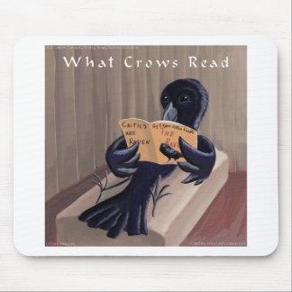 Crow Reading The Raven Funny Mouse Pad