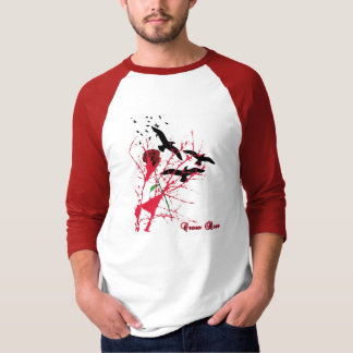 Crow Rose Half Sleeve T-Shirt