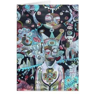 Crow Shaman Dream by Gregory Gallo Card