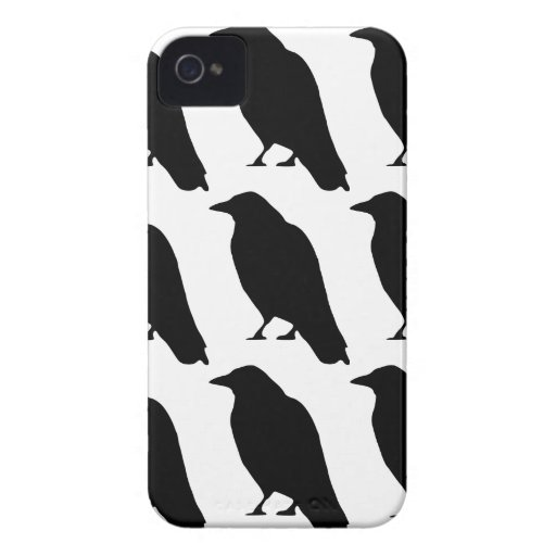 Crow Silhouette iPhone 4 Covers