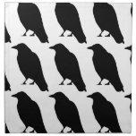 Crow Silhouette Printed Napkins