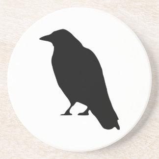 Crow Silhouette Sandstone Coaster