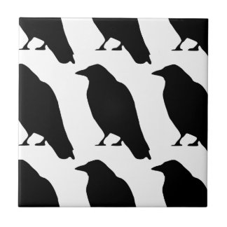 Crow Silhouette Tile