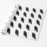 Crow Silhouette Wrapping Paper