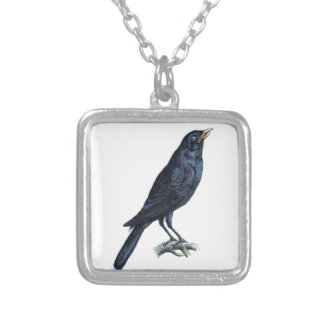 Crow Silver Plated Necklace