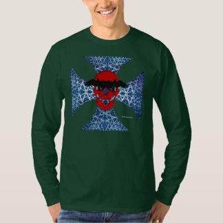Crow Skull Cross Men's Long Sleeve Shirt