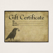 Crow & Star- Prim Gift Certificate Cards