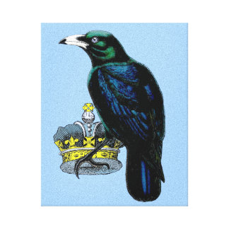Crow Steals the King's Crown Canvas Print