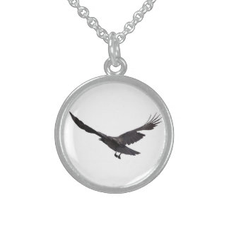 Crow Sterling Silver Necklace