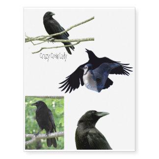 Crow Temporary Tattoos