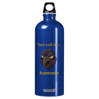 Crow They call me...Scarecrow Aluminum Water Bottle