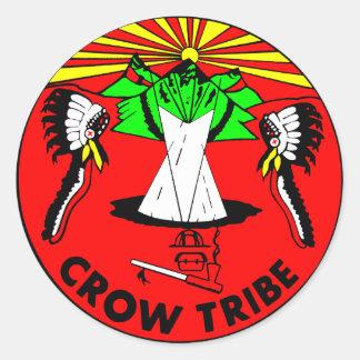 Crow Tribe Classic Round Sticker