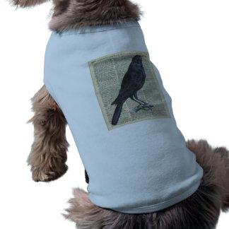 Crow Vintage Illustration At Old Encyclopedia Page T-Shirt
