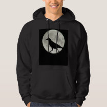 Crow Walks by Moonlight Hoodie