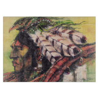 Crow Warrior and Shield Cutting Board