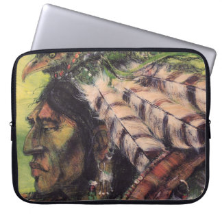 Crow Warrior and Shield Laptop Sleeve