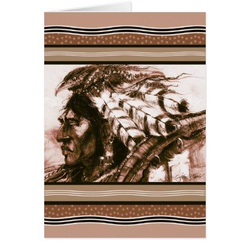 Crow Warrior custom greeting card