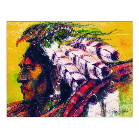 Crow Warrior Postcard
