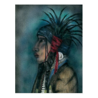 CROW WARRIOR postcard
