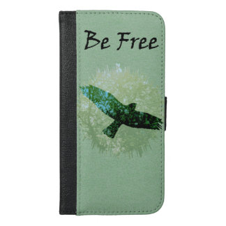 Crow Wings Spread Soaring in Trees Be Free iPhone 6/6s Plus Wallet Case