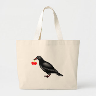 Crow With Berries Bags