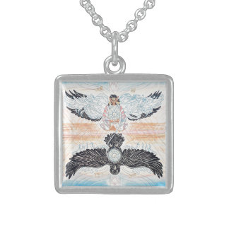 Crow Woman Fairy Necklaces and Lockets