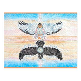 Crow Woman Fairy Postcards